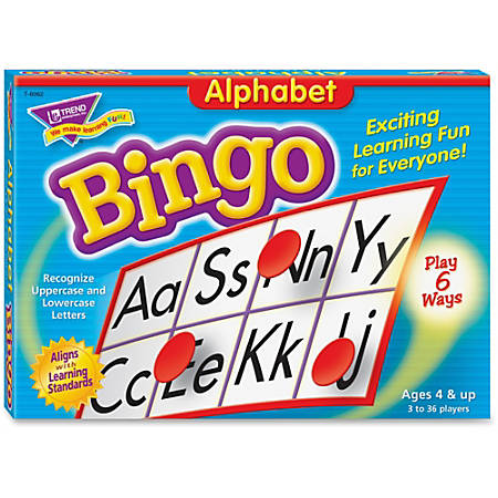 Trend® Bingo Game, Alphabet