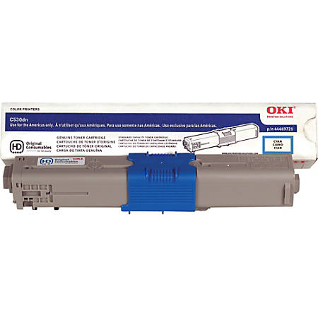 OKI® 44469721 High-Yield Cyan Toner Cartridge