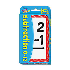 Trend Pocket Flash Cards Subtraction Box