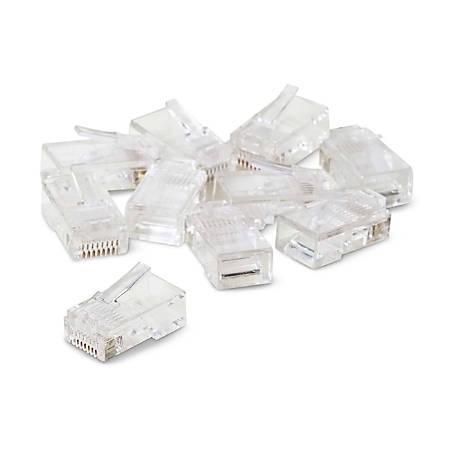 Belkin 50 Micron RJ45 Plugs - 10 Pack - RJ-45 Male - Clear