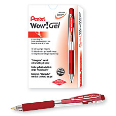 Pentel Wow Retractable Gel Roller Pens