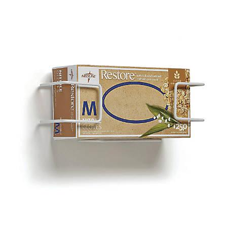 Medline Horizontal Wire Glove Dispensers, Single, White, 5 Dispensers Per Pack, Case Of 2 Packs