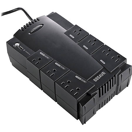 Compucessory AVR 8-Outlet UPS Backup System - 110 V AC Input - 120 V AC Output - 8