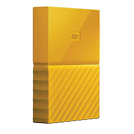 WD My Passport® 3TB Portable External Hard Drive, Yellow