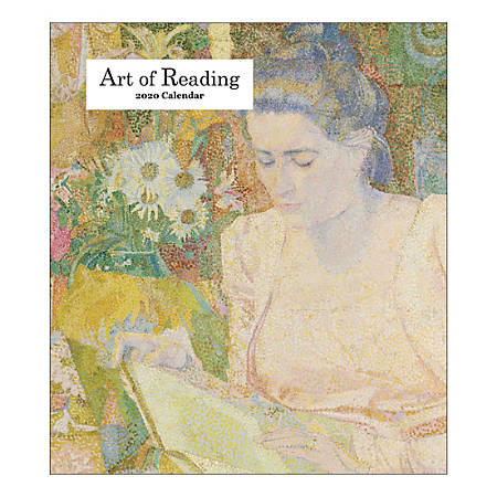 "Retrospect The Art Of Reading Monthly Desk Calendar, 6-1/4"" x 5-1/2"", January To December 2020, YCD 023-20"