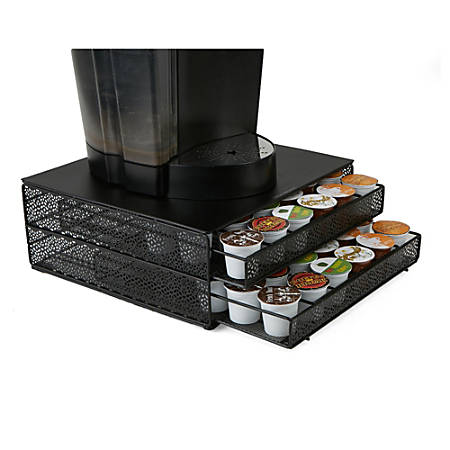 Mind Reader K-Cup® Pods Storage Drawer, 72-Pod Capacity, Black