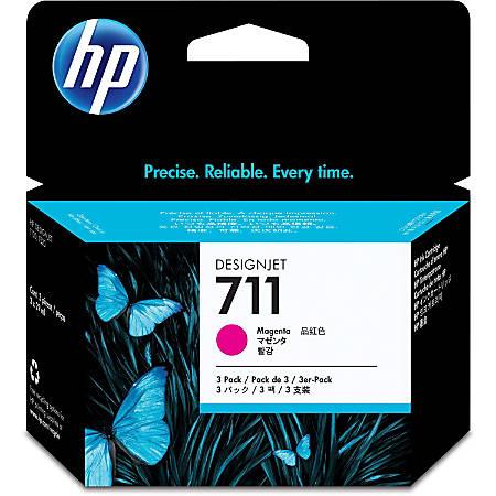 HP 711 Original Ink Cartridge - Multi-pack - Inkjet - Magenta - 3 / Pack