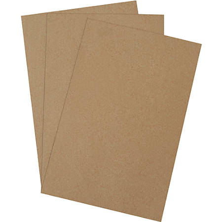 """Office Depot® Brand Chipboard Pads, 12"""" x 18"""", 100% Recycled, Kraft, Case Of 420"""