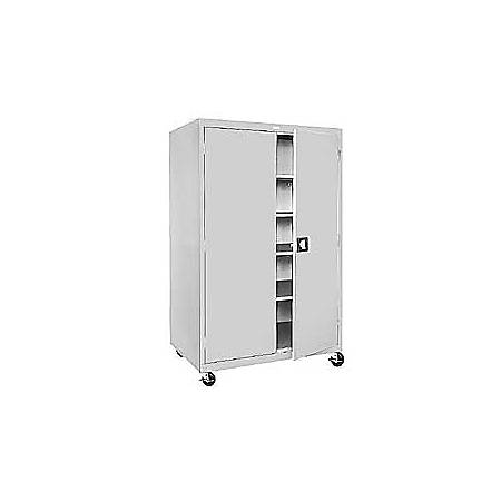 "Sandusky® Mobile Steel Storage Cabinet, 78""H x 36""W x 24""D, Dove Gray"