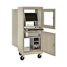 Sandusky Mobile Computer Cabinet Putty