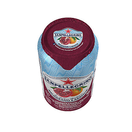San Pellegrino® Italian Sparkling Fruit Beverage, 11.15 Oz, Pomegranate And Orange, Pack Of 12 Cans
