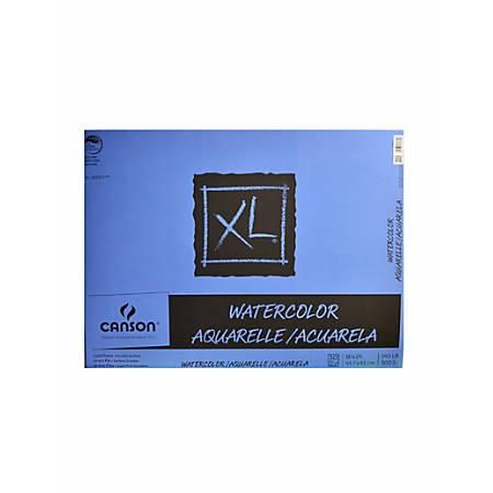 "Canson XL Watercolor Pad, 18"" x 24"", 30 Sheets Per Pad"