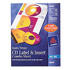 Avery Inkjet CDDVD Label And Insert