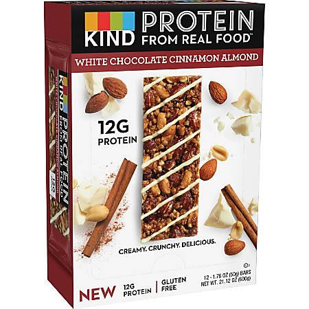 KIND Protein Bars - Trans Fat Free, Low Sodium, Gluten-free, Individually Wrapped - White Chocolate Cinnamon Almond - 1.76 oz - 12 / Box