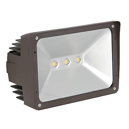 Luminance LED Exterior Floodlight, 50 Watts, 4000K/Cool White, 5000 Lumen, Bronze/Clear Glass