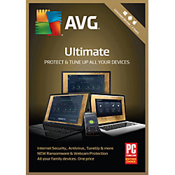 Avast AVG Ultimate 2019 Unlimited, For PC And Apple® Mac®, Product Key Card