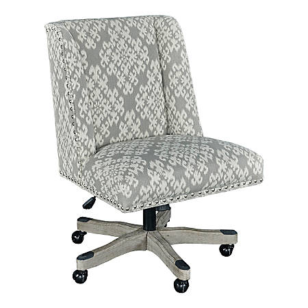 Linon Cooper Mid-Back Chair, Dove/Gray Wash