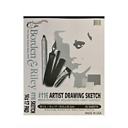 Borden Riley 116 Artist DrawingSketch Vellum