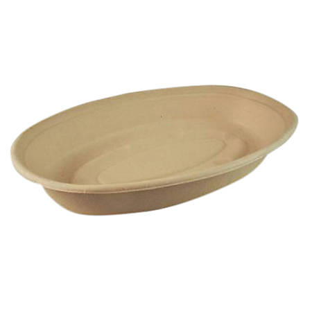 Green Collection Oval Food Container Bowls, 16 Oz, Natural, Pack Of 300 Bowls