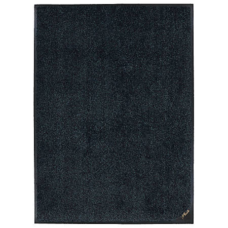 "M + A Matting Colorstar Plush Floor Mat, 48"" x 72"", Slate Gray"