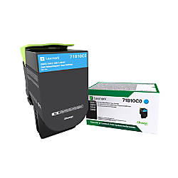 Lexmark 71B10C0 Return Program Cyan Toner