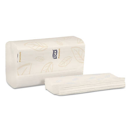 "Tork® 2-Ply Premium Multifold Towels, 14 1/2"" x 9 1/8"", White, 94 Towels Per Pack, Case Of 32 Packs"