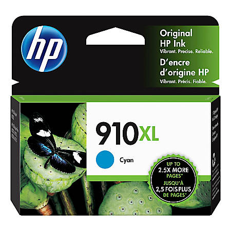 HP 910XL High Yield Original Ink Cartridge, Cyan (3YL62AN)