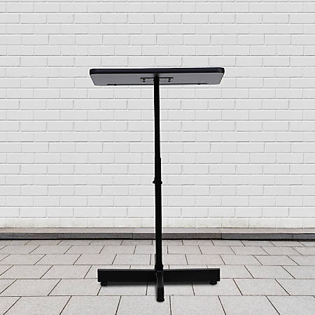"Flash Furniture Adjustable-Height Metal Lectern, 48""H x 20""W x 18-1/4""D, Mahogany"