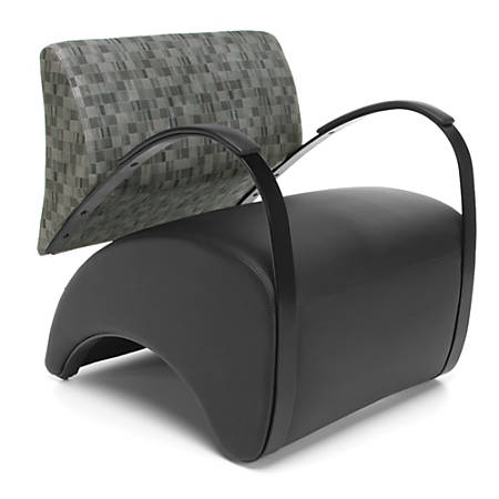 OFM Recoil Series Lounge Chair, Nickel/Black
