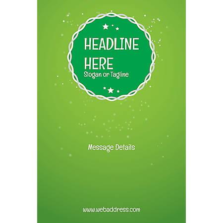 Custom Poster, Green Background, Vertical