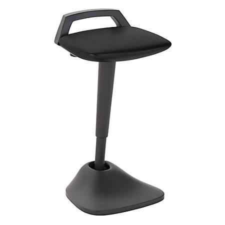 Bush Business Furniture Thrive Adjustable Standing Desk Stool, Black Mesh, Premium Installation