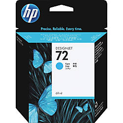 HP 72 Cyan Ink Cartridge C9398A