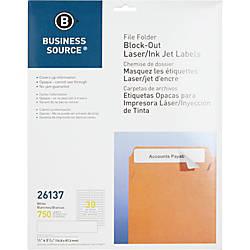 Business Source Block out File Folder