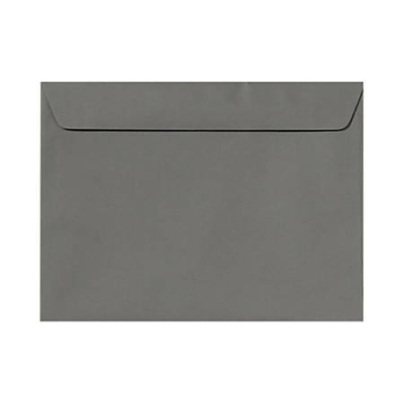 """LUX Booklet Envelopes With Moisture Closure, #9 1/2, 9"""" x 12"""", Smoke Gray, Pack Of 500"""