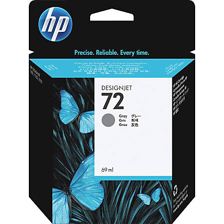 HP 72, Gray Ink Cartridge (C9401A)