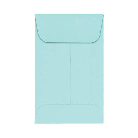 """LUX Coin Envelopes, #1, 2 1/4"""" x 3 1/2"""", Seafoam, Pack Of 500"""