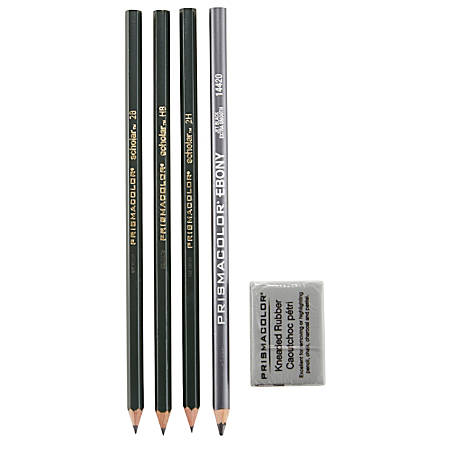 Prismacolor® Design Drawing Pencil Set, 4 Pencils, 1 Eraser
