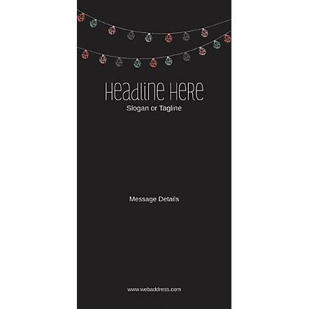 Custom Vertical Display Banner, Lanterns