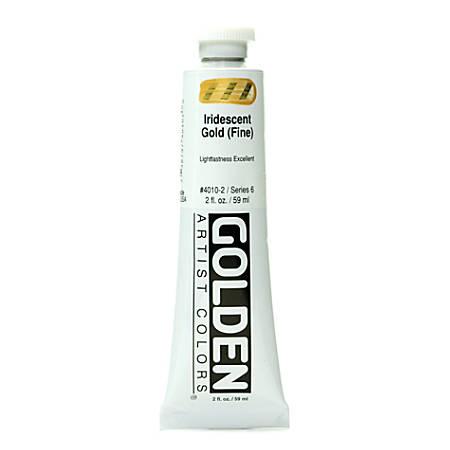 Golden Acrylic Paint, Fine, 2 Oz, Iridescent Gold