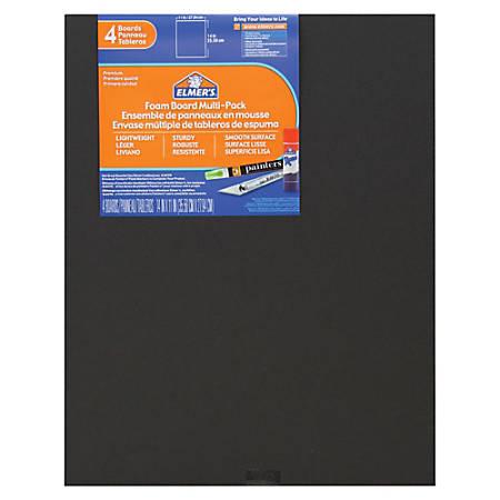 "Elmer's 4-pack Black Foam Boards - 11"" x 14"" - 4 / Pack - Black - Foam"