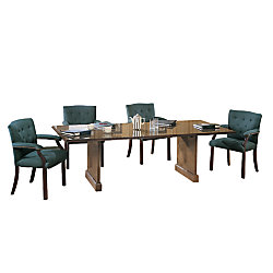 Bevis Traditional Conference Tabletop Walnut X By Office Depot - 42 x 96 conference table