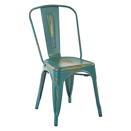 Office Star™ Bristow Armless Chairs, Antique Turquoise, Set Of 2 Chairs