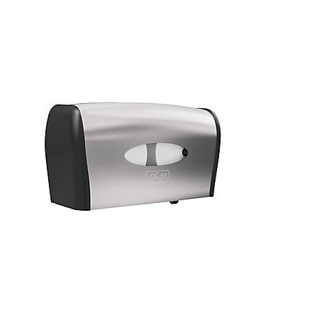 Solaris Paper® LoCor® Side-By-Side Wall-Mount Bath Tissue Dispenser, Stainless