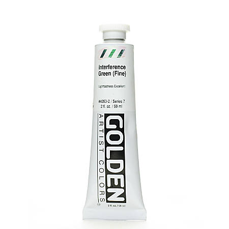Golden Acrylic Paint, Fine, 2 Oz, Interference Green
