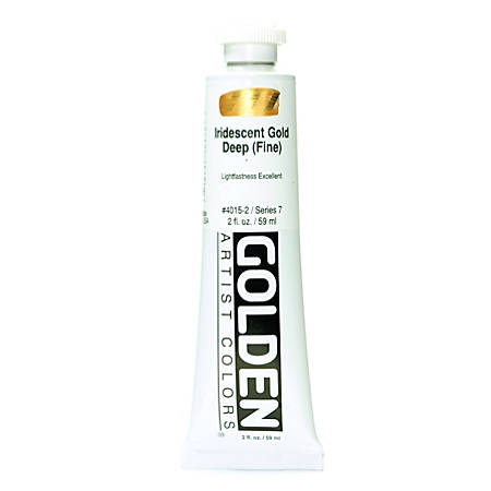 Golden Acrylic Paint, 2 Oz, Iridescent Gold Deep