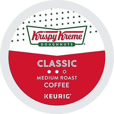 Krispy Kreme Doughnuts® Smooth Medium Roast Coffee Single-Serve K-Cup®, 2.8 Oz, Carton Of 24