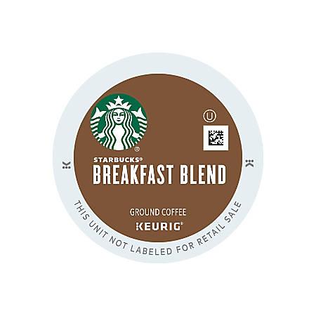 Starbucks® Breakfast Blend Coffee Single-Serve K-Cup®, 2.8 Oz, Carton Of 24