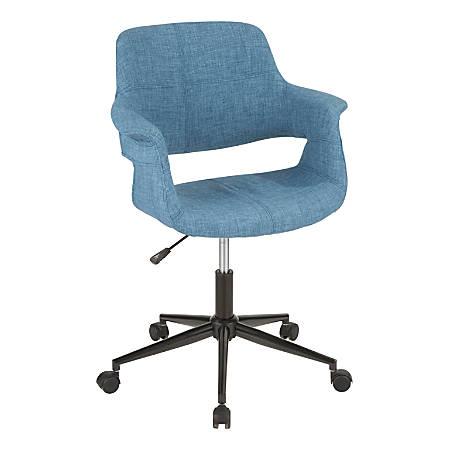 Lumisource Vintage Flair Mid Century Modern Mid Back Chair Blueblack