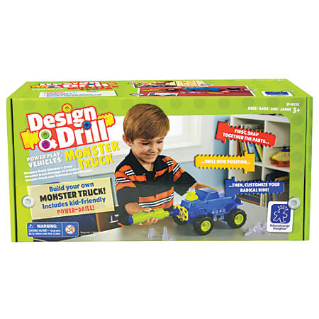 Educational Insight Design & Drill® Power Play Vehicles™ Monster Truck Set, Multicolor, Pre-K To Grade 1