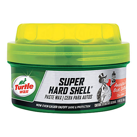 Turtle Wax® Super Hard Shell® Paste Car Wax, 14 Oz, Pack Of 6